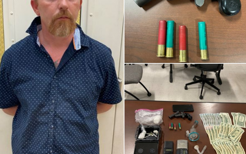 Man in park with gun and meth