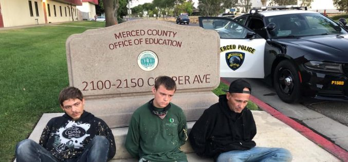 3 Arrested for Commercial Burglary at Merced County Office of Education
