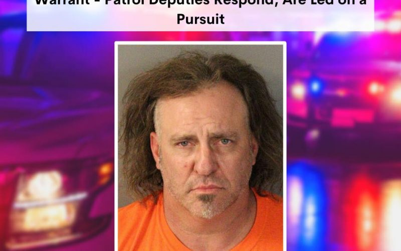 Man with warrant drives erratically on interstate