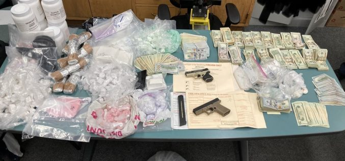 Arrests, Seizure of Nearly 30 pounds of Dangerous Drugs, Ghost Guns