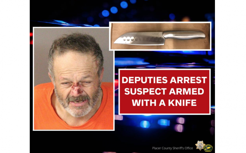 Placer County man arrested on suspicion of petty theft following confrontation with officers