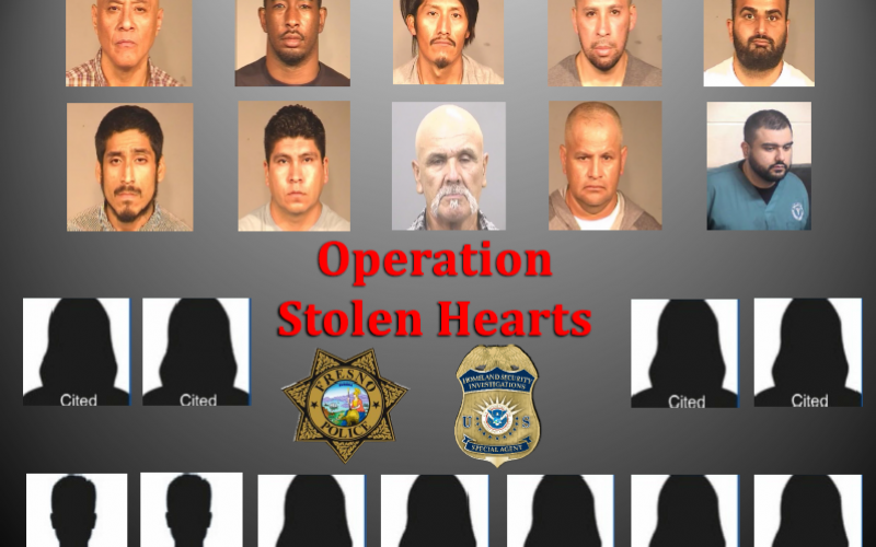 """Results from """"Operation Stolen Hearts"""" in Fresno"""