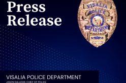 Carjacking Arrest Press Release from Visalia Police Department