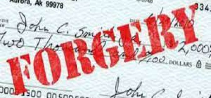 Forgery and ID Theft Bust