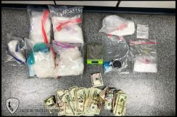 LARGE AMOUNT OF METHAMPHETAMINE SEIZED DURING SEARCH