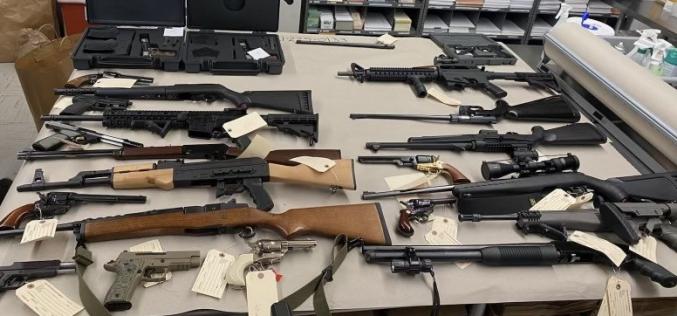 27 guns, 21,000 rounds, 2 suppressors