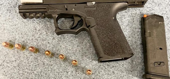 OFFICERS FIND GANG MEMBER ARMED WITH HANDGUN