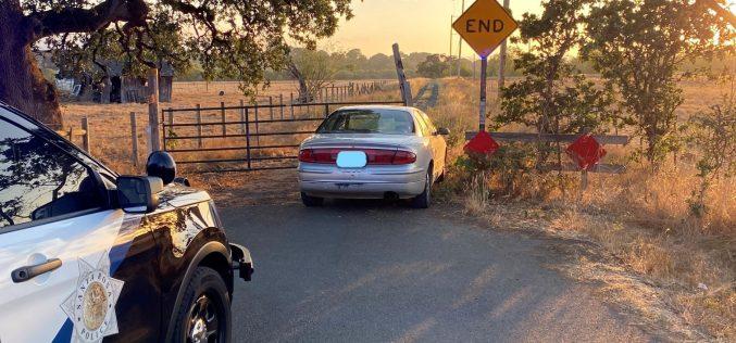 ARREST After an 8 Mile Vehicle Pursuit