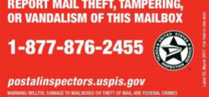 Arrests Made for Breaking into Community Mailbox, Possession of Burglary Tools