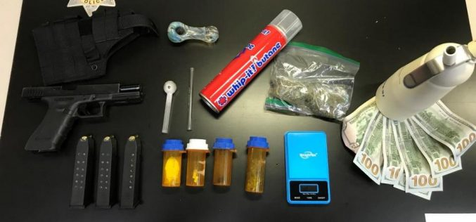 Armed Subject Arrested with Controlled Substances