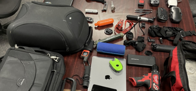 Thief caught with multitude of stolen items