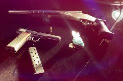 Salinas Police and K-9 Officer arrest man allegedly caught with sawed-off shotgun