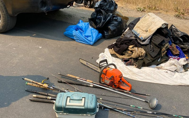 Two suspects arrested looting in fire zone