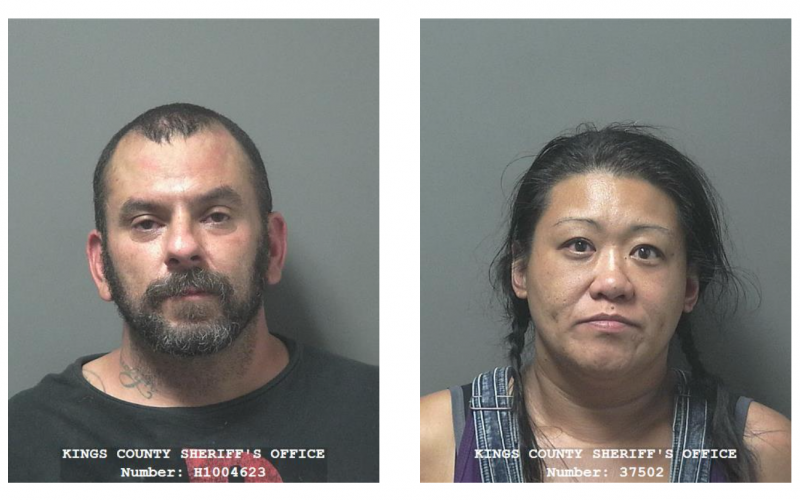 Kings County: Two arrested after property owner finds them allegedly squatting in vacant trailer