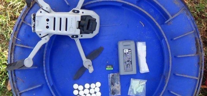 Man arrested on several felony charges after attempting to smuggle drugs into jail using drone