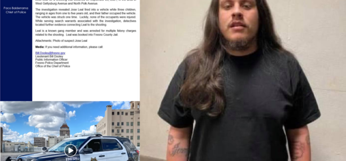 Known Gang Member Arrested After Firing Gun into Vehicle with Three Children
