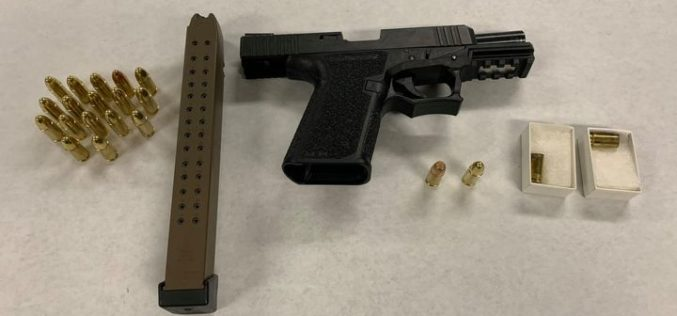 Erratic driver stopped with loaded pistol