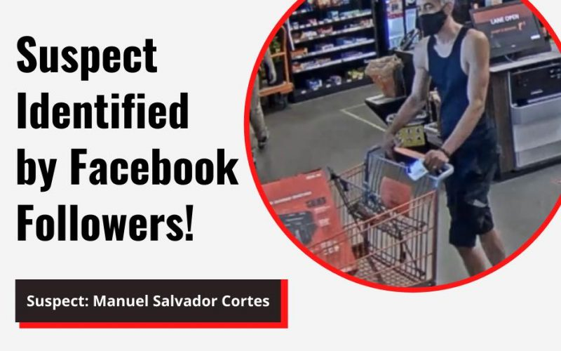 Facebook followers identify suspect within an hour!